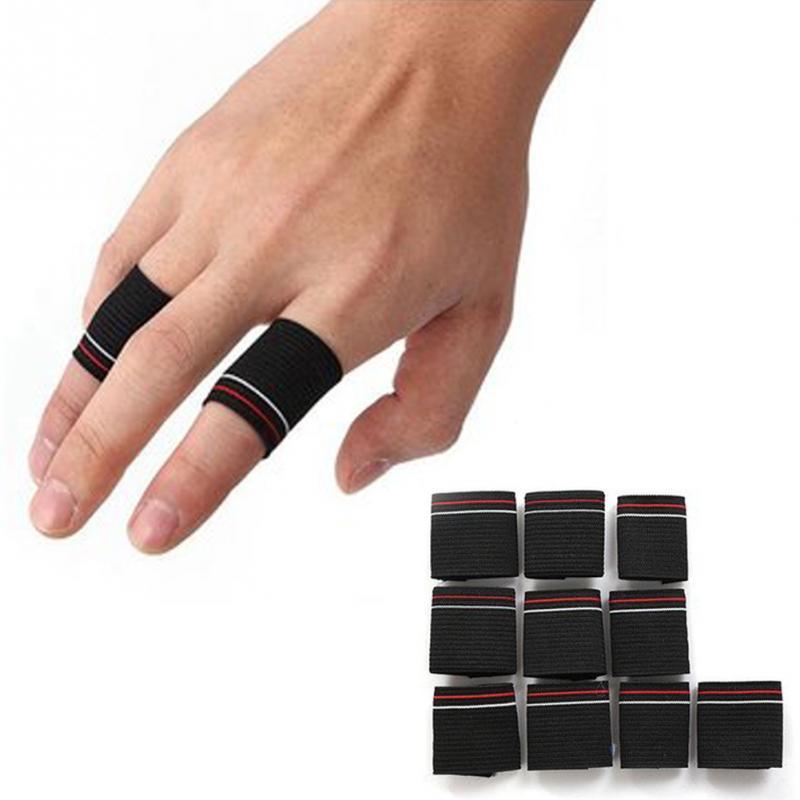 10 шт./лот, спортивные ленты для защиты пальцев, бандажные ленты для поддержки баскетбола, волейбола, футбольных нарукавников