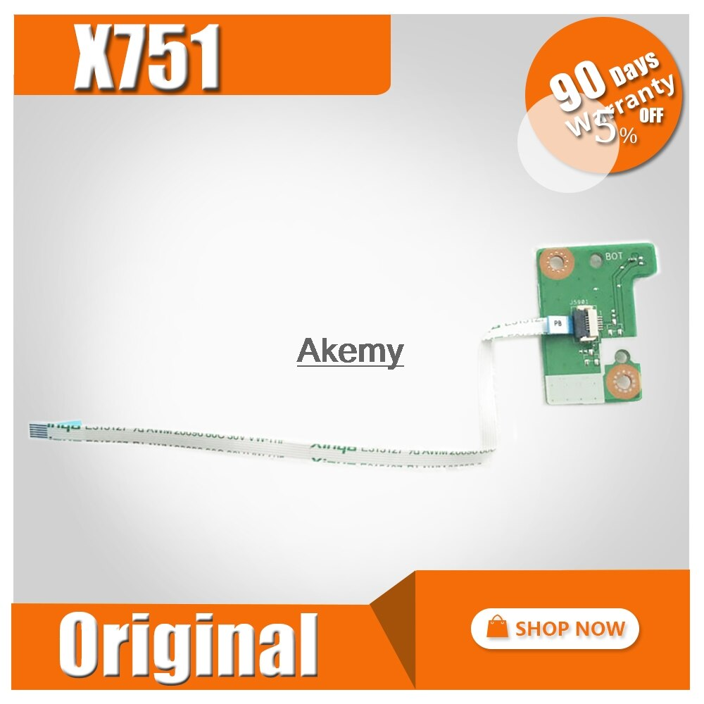 Оригинал для ASUS X751 X751L X751LB X751LD X751LJ X751LA K751L A751L плата переключателя питания с кабелем