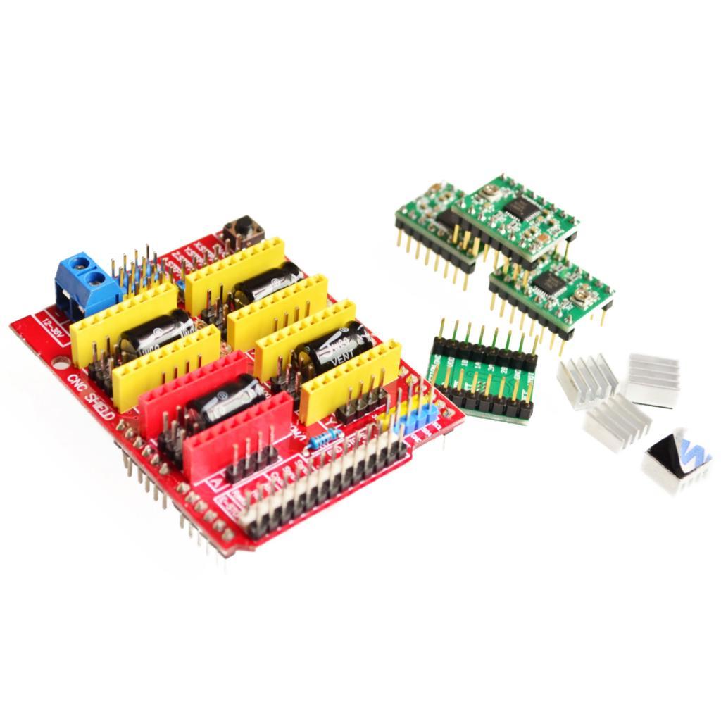 V3.0 гравер CNC щит + A4988 шаговый двигатель драйверы для UNO R3 для Arduino