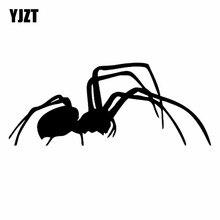 YJZT 19.2CM*7.8CM Spider Animals Cool Art Car Sticker Decal Vinyl Decor Black/Silver C19-0269
