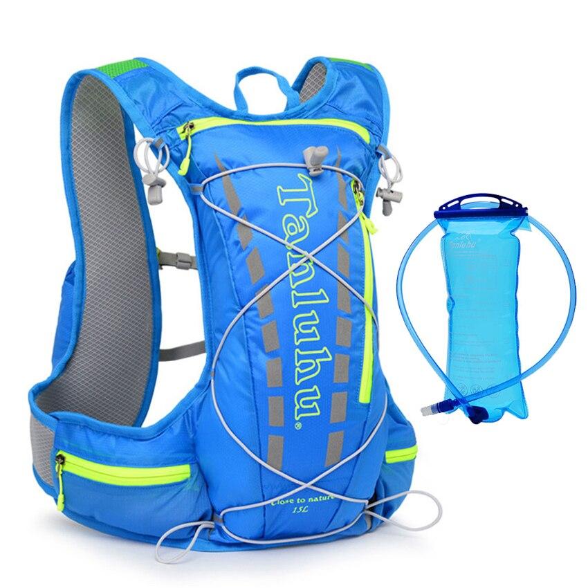 Mochila de hidratación de 15l, mochila, chaleco, arnés para ciclismo, senderismo, Camping, carrera de maratón, deportes de carreras, vejiga de agua de 2L