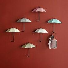 3 Pieces Creative Shaped Storage Wall Hooks Nail-Free Single Hook Small Decorative Home Decoration Hook Key Hair Clip Holder