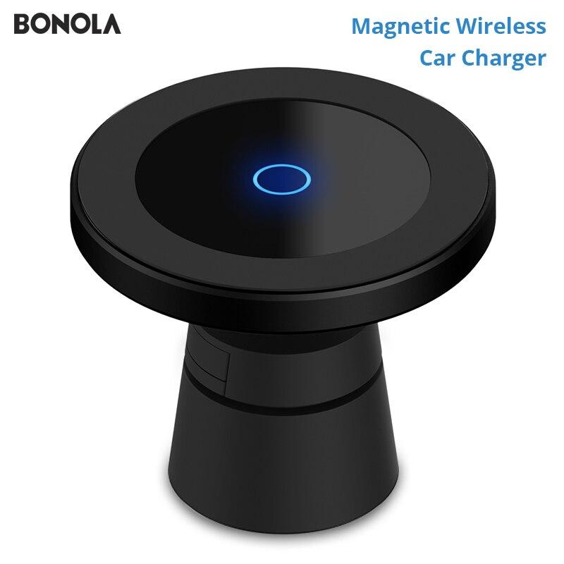 Bonola магнитное беспроводное автомобильное зарядное устройство для iPhone 11/11Pro/11 ProMax/XsMax/Xr/8 Qi автомобильное беспроводное зарядное устройство дл...