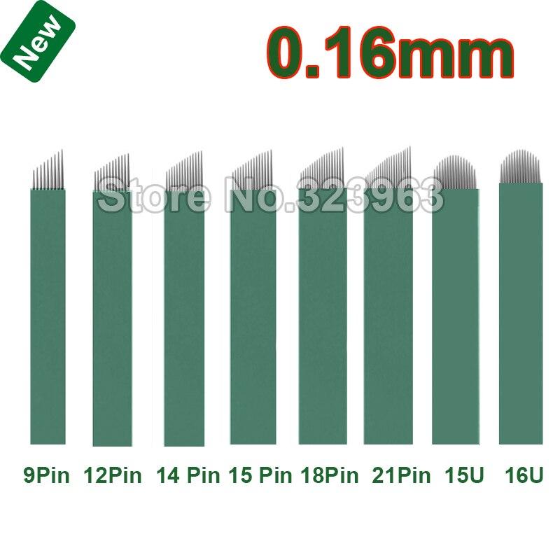 0 16 мм Lamina микроблейдинг Tebori иглы 9 12 14 15 18 21 15U 16U U тату для перманентного макияжа