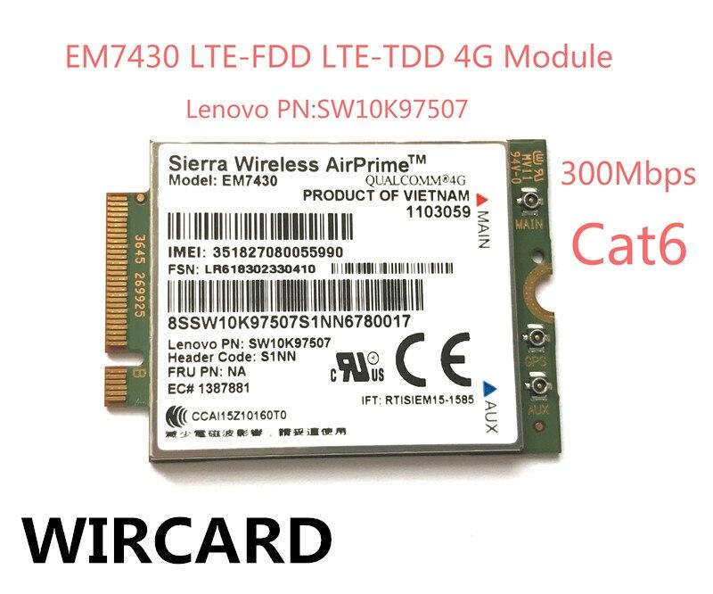 em7430 fdd tdd lte 4g wcdma modulo gnss 4g cartao para thinkpad x270 x1 carbono 5th
