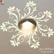 Lanterne de lustre en vinyle   Autocollant mural de plafond, lampe lumineuse, autocollant pour chambre à coucher salon, décor de maison, Art