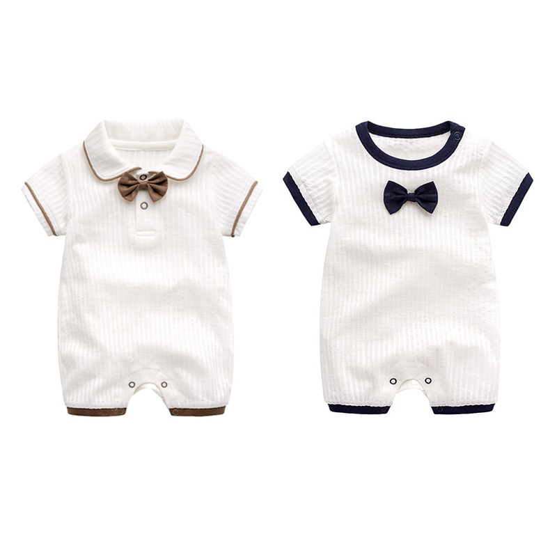 Peleles de manga corta de diseño para bebés y niños con lazo para recién nacidos