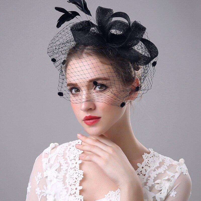 Sombrero de boda de carreras de primavera Fascinator de señora de 2017 novedad de alta calidad flor Sinamay multicolor