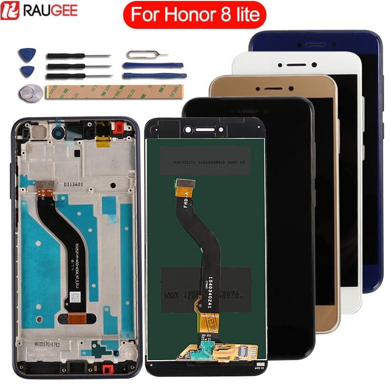 Para Huawei Honor 8 Lite Lcd pantalla táctil con marco digitalizador Panel reemplazo para Honor 8 Lite Display PRA-LA1 LX1 LX3