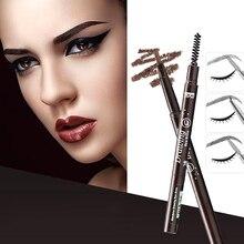Double têtes automatique crayon à sourcils femmes yeux maquillage étanche longue durée stylo à sourcils avec brosse