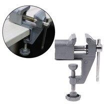 Универсальный стенд тиски из алюминиевого сплава мини-стол тиски скамейка зажим винта тиски для DIY ремесло плесень фиксированный ремонтный инструмент бытовой