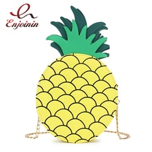 Fun fruit ananas modélisation jaune petit rabat chaîne sac à bandoulière dames sac à main messenger sac à travers le corps