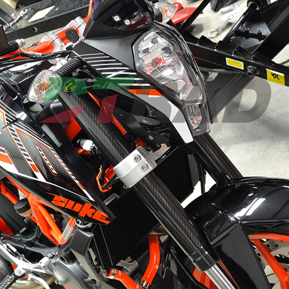 DTRAD para KTM 125-450SX/SXF/EXC/EXCF/XCF/XCW 2008-2018 protectores de envolturas de horquilla superior/inferior de carbono