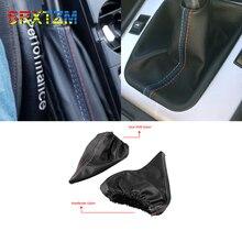 Srxtzm 1 Stuks Nieuwe Voor Bmw 3 Serie E36 E46 M3 E30 E34 Z3 Handleiding Auto Gear Shift Kraag Pu lederen Handrem Gaiter Boot Cover Case