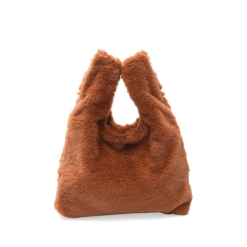 winter Sea Beach bag plush bag Crossbody Bags Chic High Quality Women Barrel Basket Summer Bag Female Brand Designer Small