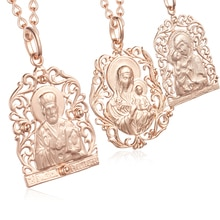 Mode Schmuck 2 Farbe Frauen Männer Mädchen 585 Rose/Weiß Gold Farbe Anhänger Schnecke Halskette Mutter Sohn Rose Gott anhänger Ketten