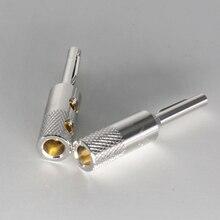 4 pièces câble haut-parleur pur cuivre banane cuivre rhodié viborg audio Style fiche banane haut de gamme