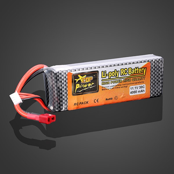 2 шт. ZOP Power 11,1 В 4000 мАч 3S 30C Lipo Battery T Plug для JLB 21101 RC Car 1/8 1/10 Traxxas Trx4