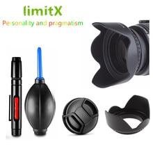 40.5 millimetri Lens Hood/Cap/Penna di Pulizia/Aria Ventilatore Pompa per Samsung NX3300 NX3000 NX2000 NX1100 NX1000 NX300 NX210 20-50mm
