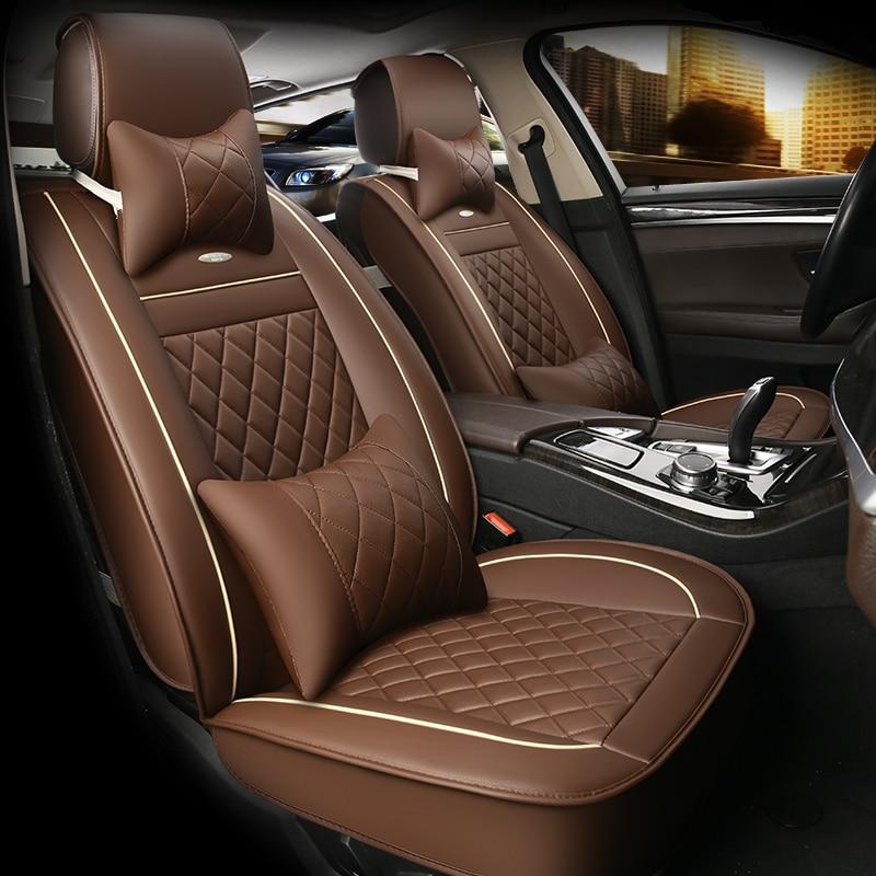 HLFNTF кожаные чехлы для автомобильных сидений для Peugeot 307 206 308 407 207 406 408 301 3008 5008 автомобильные аксессуары Автомобильный Стайлинг