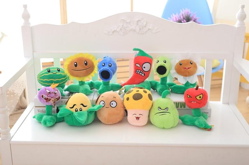 Juguetes de peluche de Plants vs Zombies, 21 estilos, 20-30cm, muñecos de felpa suave de Plants vs Zombies, regalos para niños, juguetes de fiesta