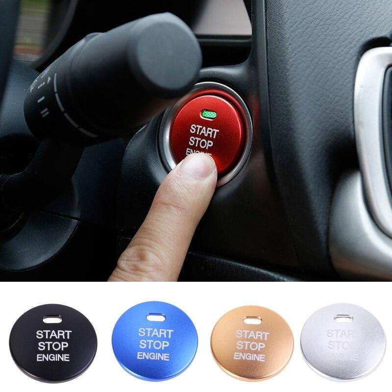 QILEJVS Engine Button Replace Cover STOP Key For Mazda3 BM BN6 GJ1 GL CX4 CX5 Universal -M25