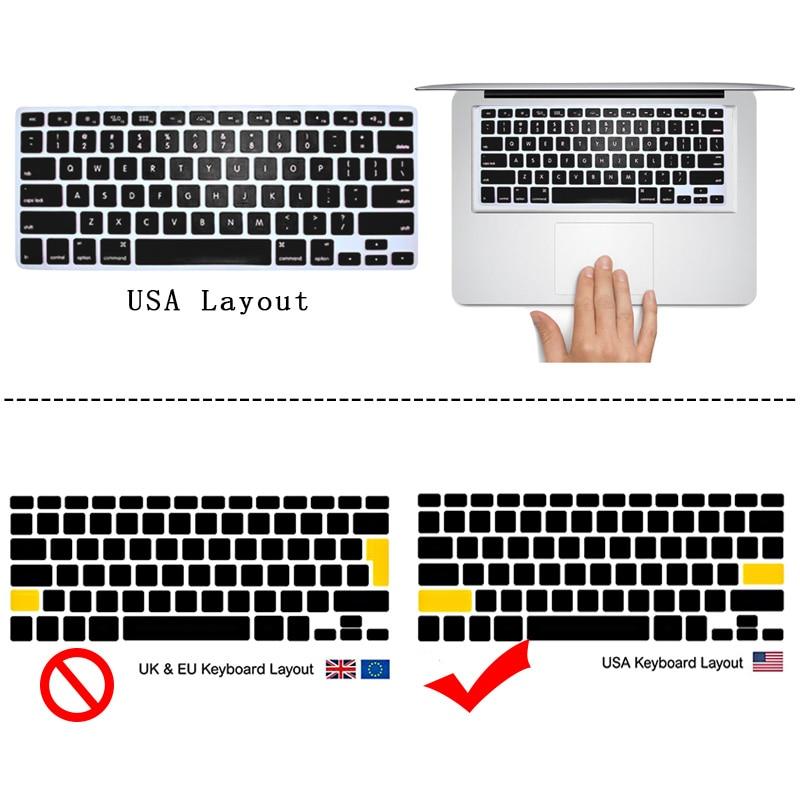 Купить с кэшбэком KK&LL Matte Hard Shell  Laptop Protector case + Keyboard Cover For Apple MacBook Air Pro Retina 11 12 13 15
