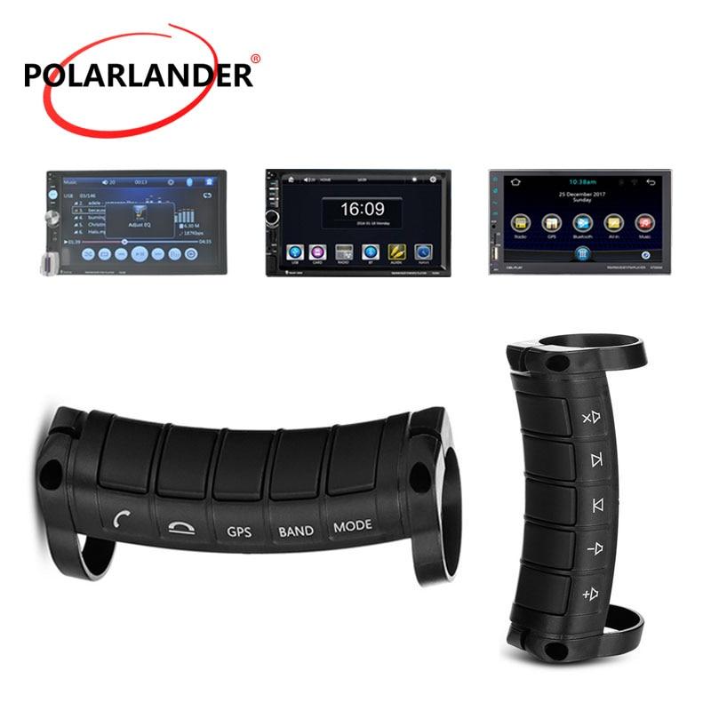 Volante Universal para coche con Control remoto, reproductor Multimedia de DVD para coche, llamada de soporte, juego de respuesta/volumen, GPS inalámbrico con 10 botones