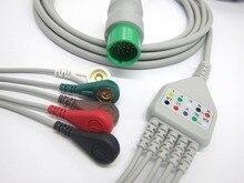 Câble ECG monobloc avec 5 fils pour moniteur patient Spacelab