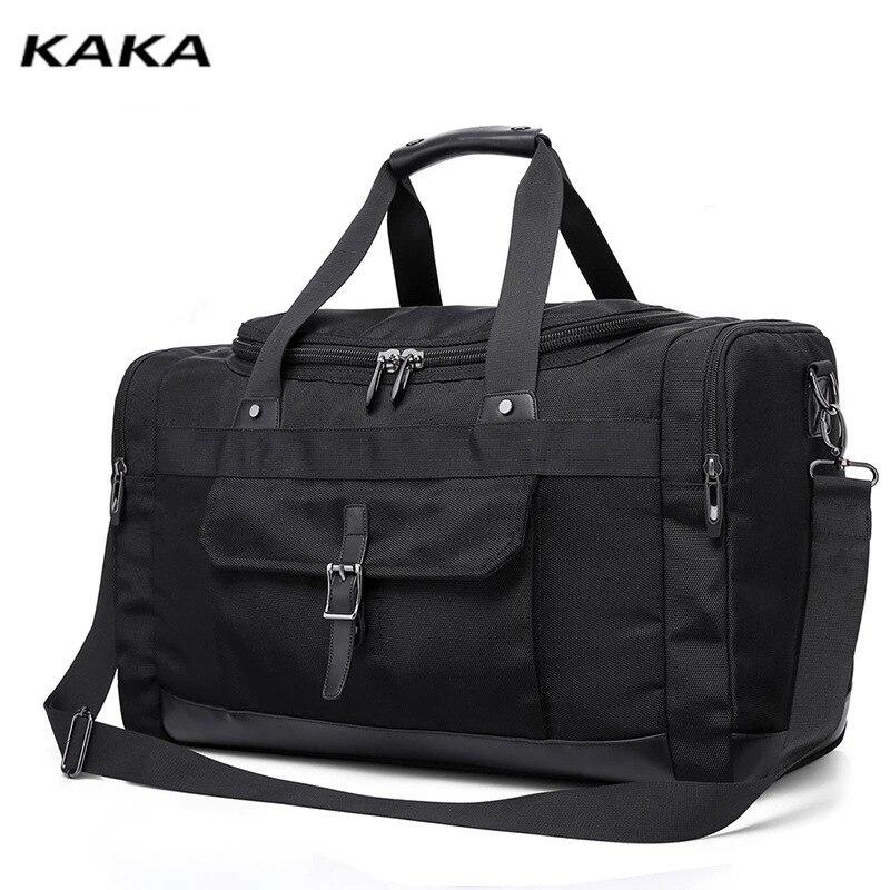 Marca KAKA, bolsos de viaje de gran capacidad, moda masculina, bolso de personalidad, viaje corto, bandolera de hombro individual