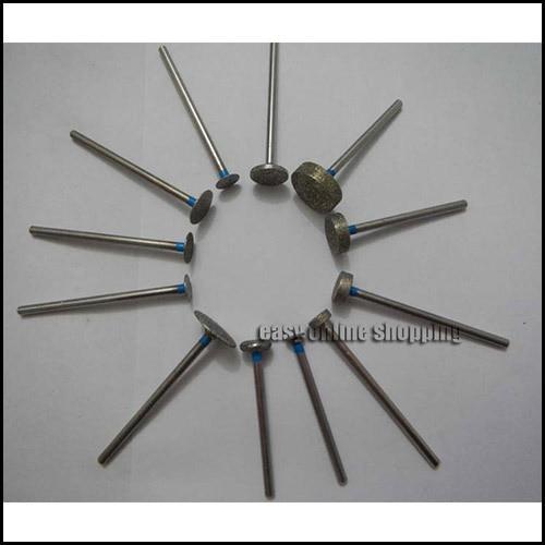NEW 12 x Dental Lab Assorted Diamond Burs Millers Tooth Drill Jewelers 2.35mm