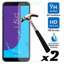 2psc/lot film protecteur décran en verre trempé anti-déflagrant Films de protection avant pour Samsung Galaxy J6 2018 J600 SM-J600F J600G/On6