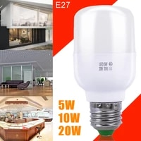 smart led lamp e27 20w white ac185 265v street indoor outdoor light control emergency lamp auto hallway dusk to dawn