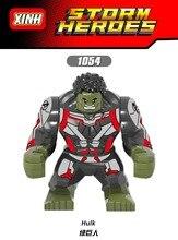 10PCS Building Blocks Avengers 4 End Game Space 7Cm Big  Hulk Whiplash Action Figures For Children Collection Toys
