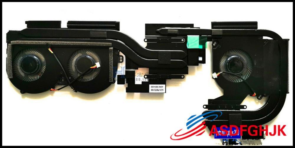 مروحة وحدة المعالجة المركزية لـ clevo P955ET P95T2 RTX20 ، أصلي ، المشتت الحراري ، 4 أسلاك ، اختبار موافق