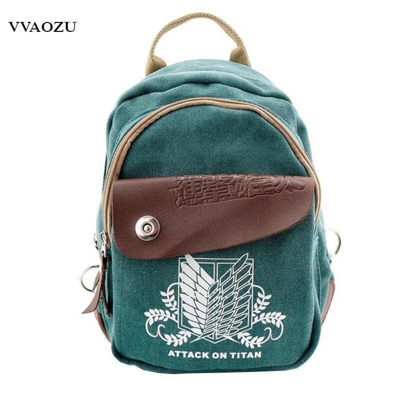 New Arrival Attack on Titan Tokyo Ghoul Multifunctional Shoulder Bag Cute Totoro Hatsune Miku Print Backpack Daypack for Girls