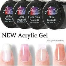 Gel UV Poly Gel ongles Polygels ongles constructeur Poligel ongles Kit Extension acrylique Nail Art cristal UV résine constructeur