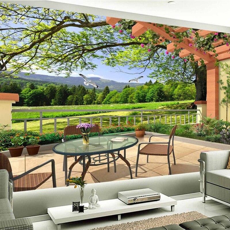 Mural 3D personalizado de decoración moderna para el hogar, papel tapiz de fibra de madera, papel tapiz de paja de grano, Mural de paisaje natural, papel tapiz de pared
