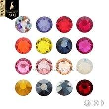 Cristal Castillo Diy Rhinestone 6A mejor No Hotfix Strass rojo AB Crystal Craft piedras preciosas cuentas diamantes de imitación con parte posterior plana para zapatos tacones