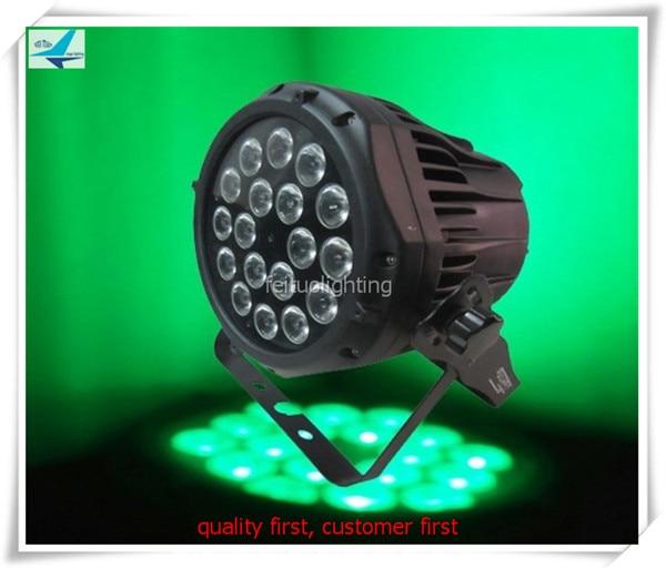 IP65 exterior 18x10w etapa Par Can Light RGBW 4 en 1 LED Uplight impermeable Par64 estroboscópico DJ iluminación de discoteca (6 uds con estuche de mosca)