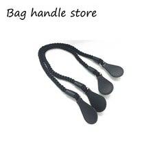 Obag 1 paire de corde et poignée de sac noires   De 65 cm, gouttes de poignées noires