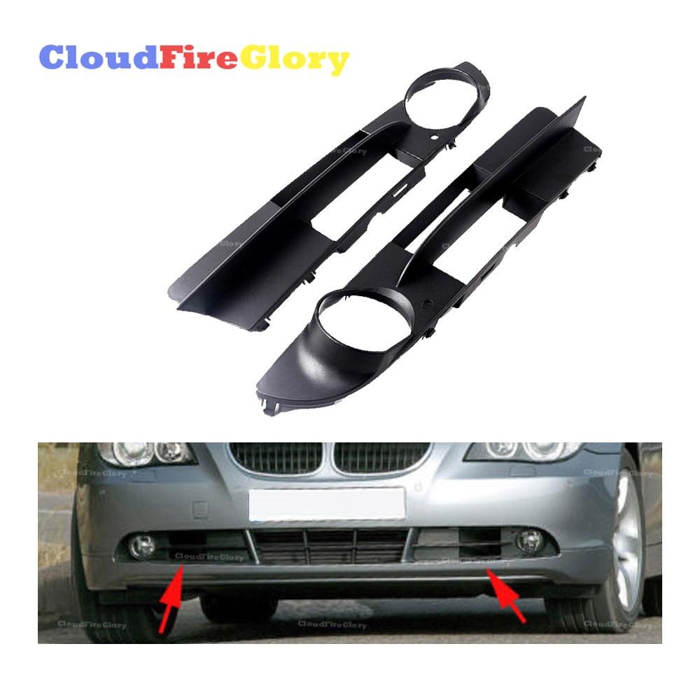 Pair Left Right For BMW E60 E61 525i 525xi 530i 550i Pair Front Fog Light Bumper Grille Trim Cover L R 51117049243 51117049244