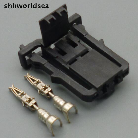 Shhworldsea connecteur électrique de coffre   Jeux de 10/50/100 2 broches 2 way voiture, connecteur de lumière de coffre voiture électrique femelle, prise électrique 1J0 971 972 1J0971972