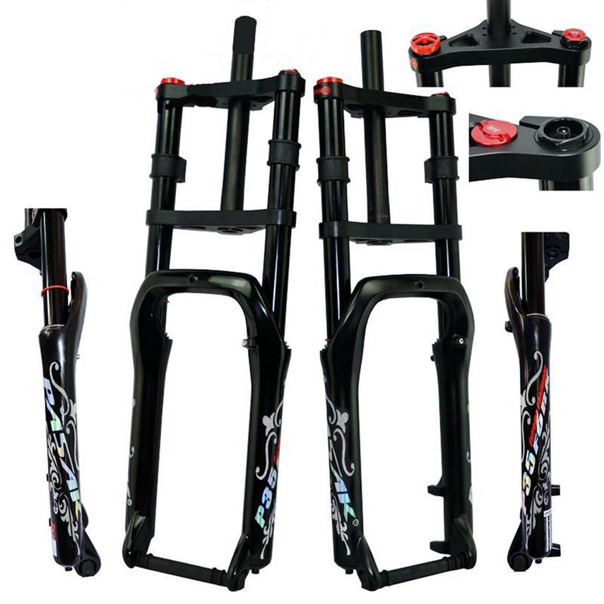 PASAK Snow Bike ATV aluminum alloy shock absorber front fork shoulder gas fork 20 inch wide tire 4.0 off-road bicycle 135MM