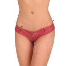S-XL Plus Size Low Waist Mini Shorts Women Elastic Denim Bikini Sexy T Crotch Jean Short Night Club Bar Charming Hot Shorts