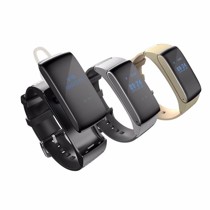 Banda inteligente DF22 Talkband pulsera reloj Bluetooth portátil hablar Smartband podómetro activa Fitness Tracker para IOS Android Teléfono