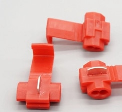 20 pçs/lote Red Scotch Quick Lock Splice 22-18 AWG Fio Crimp Terminal Conector Para Fio 0.5-1.0
