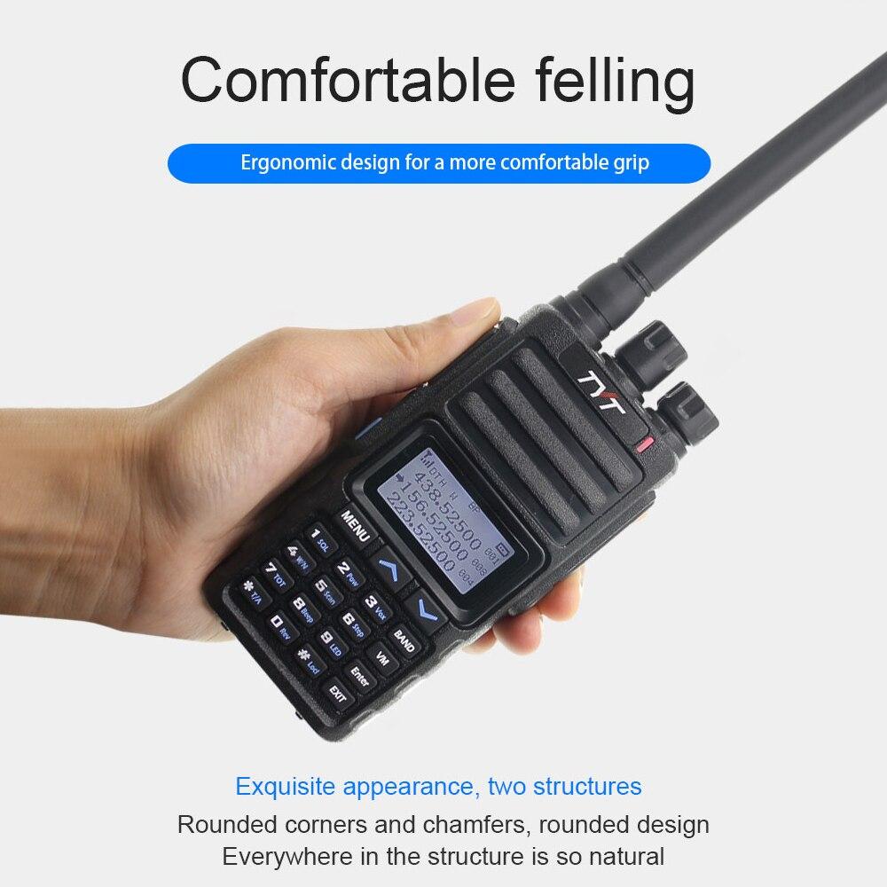 Nuevo Walkie Talkie TYT TH-350 tribanda 136-174MHZ 220-260MHZ 400-470MHZ tri-standby UV transceptor 5W FM Radio como TH-UV9D