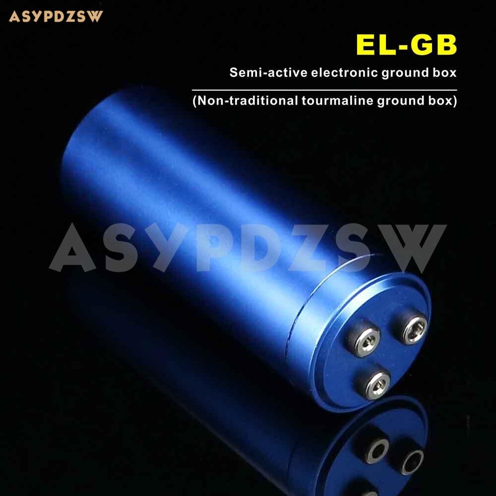 EL-GB caja de tierra electrónica semiactiva (Caja de tierra de turmalina no tradicional) para amplificador/reproductor con cable plateado