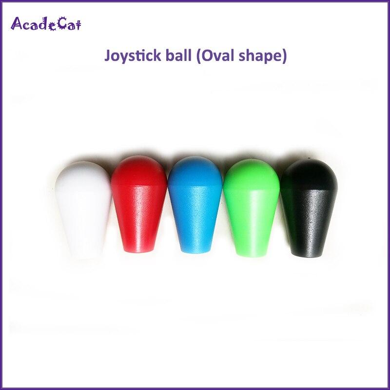 Envío Gratis, Joystick de Arcade, mango de bola superior para SANWA, ZIPPYY, Joystick de SEIMITSU, forma ovalada de bola superior